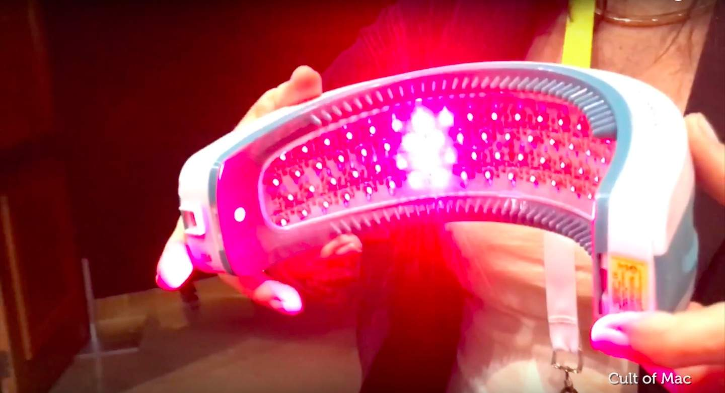 The Laserband 82 uses lasers to regrow your mane.