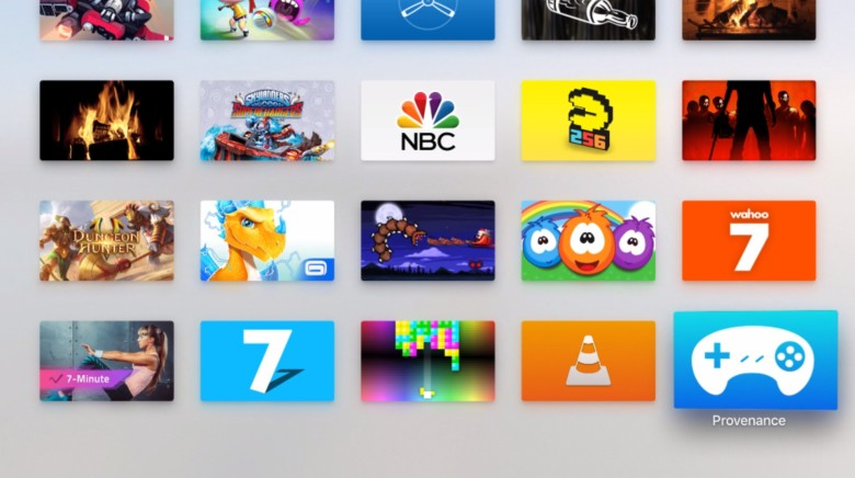 Launch Provenance from your Apple TV home screen.
