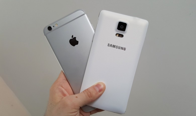 iPhone with Samsung