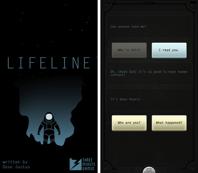 Liked The Martian? Then you should enjoy Lifeline, too.