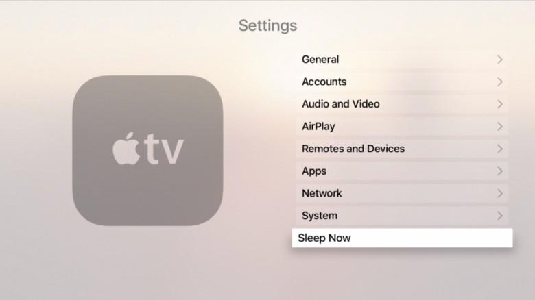 Go to Sleep, Apple TV.
