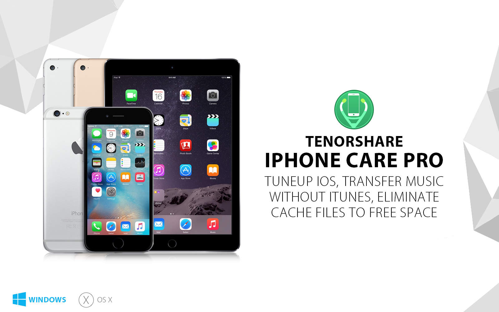 iPhone Care Pro is Tenorshare's full-spectrum toolkit for any iOS device.