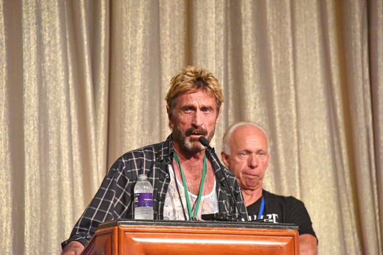 John McAfee at DefCon 2014.