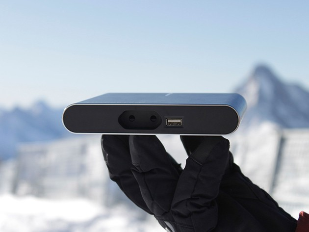 Plug In anywhere with the smallest AC powerpack ever designed.