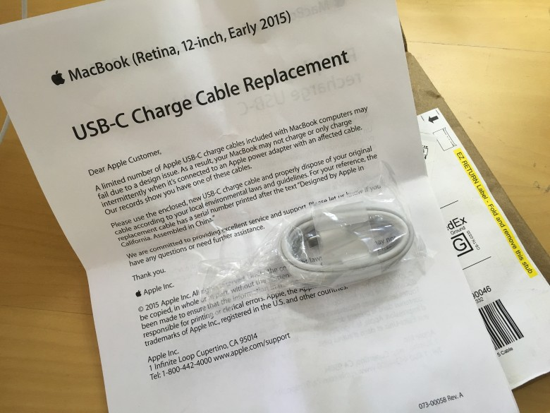 New USB-C cables are on their way.