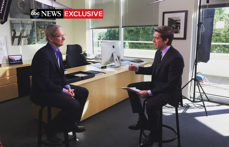 Tim Cook's office David Muir interview ABC News