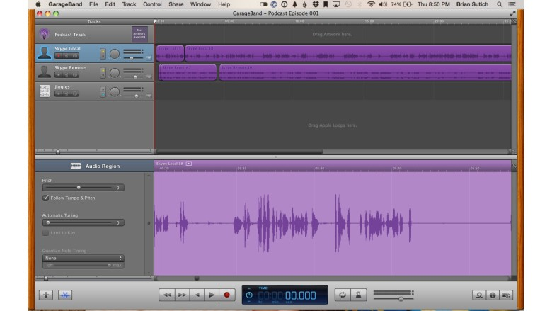 GarageBand is a simple tool to use that will get the job done for most.