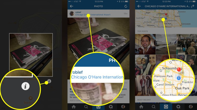 Use your own photos to find other snapshots near you.