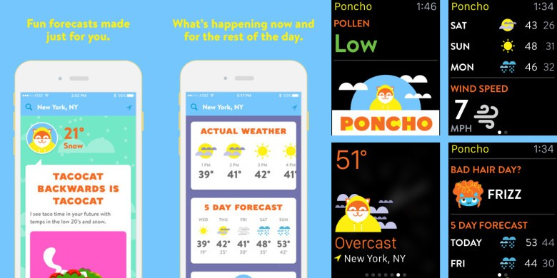 Poncho-weathercat apps of the week