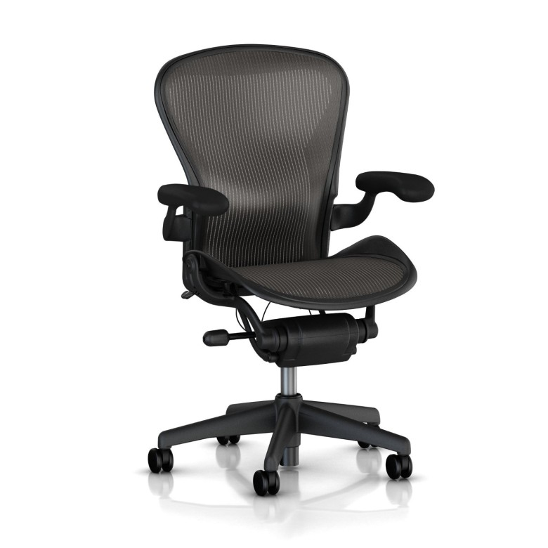 The Aeron is not only breathable, but offers excellent back support.