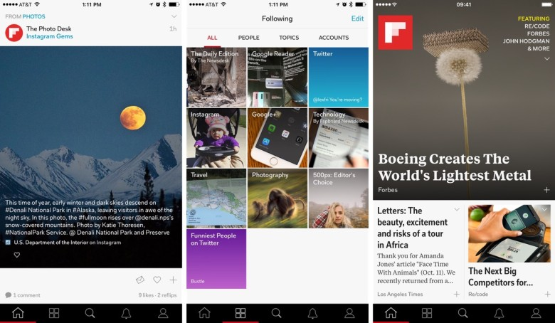 If you need to find new and interesting things to read, Flipboard is a great place to start.