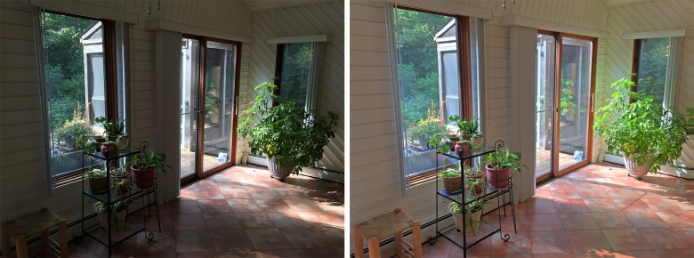 Notice the window and the floors in this image, the one on the right is much more detailed and vibrant.