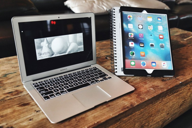 The Sketchbook case can also raise the iPad Pro in the portrait or landscape position.