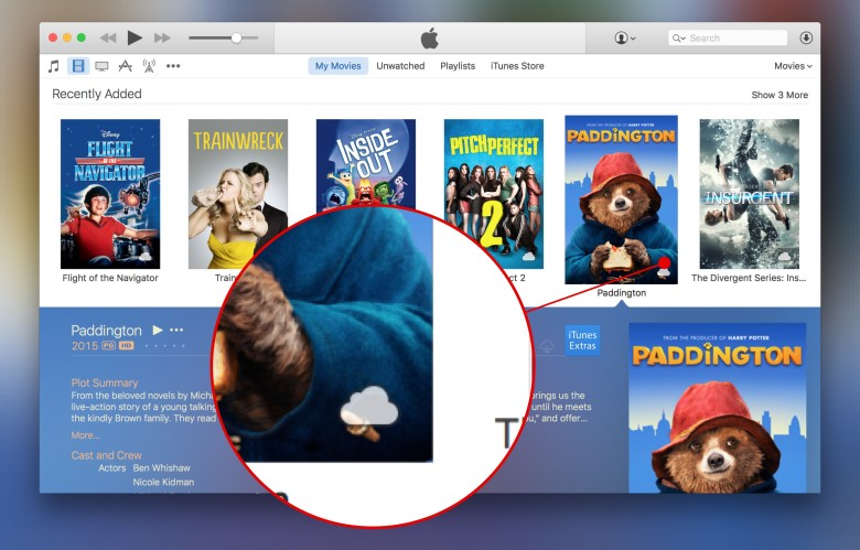 Instead of physically downloading movies to your Mac, stream them via iTunes in the Cloud.