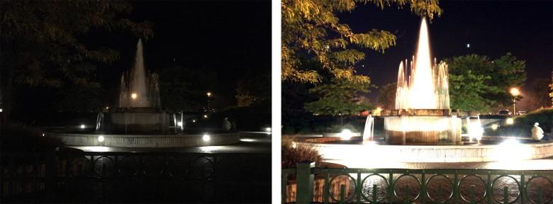 Longer shutter speeds can also drastically improve low light photos.