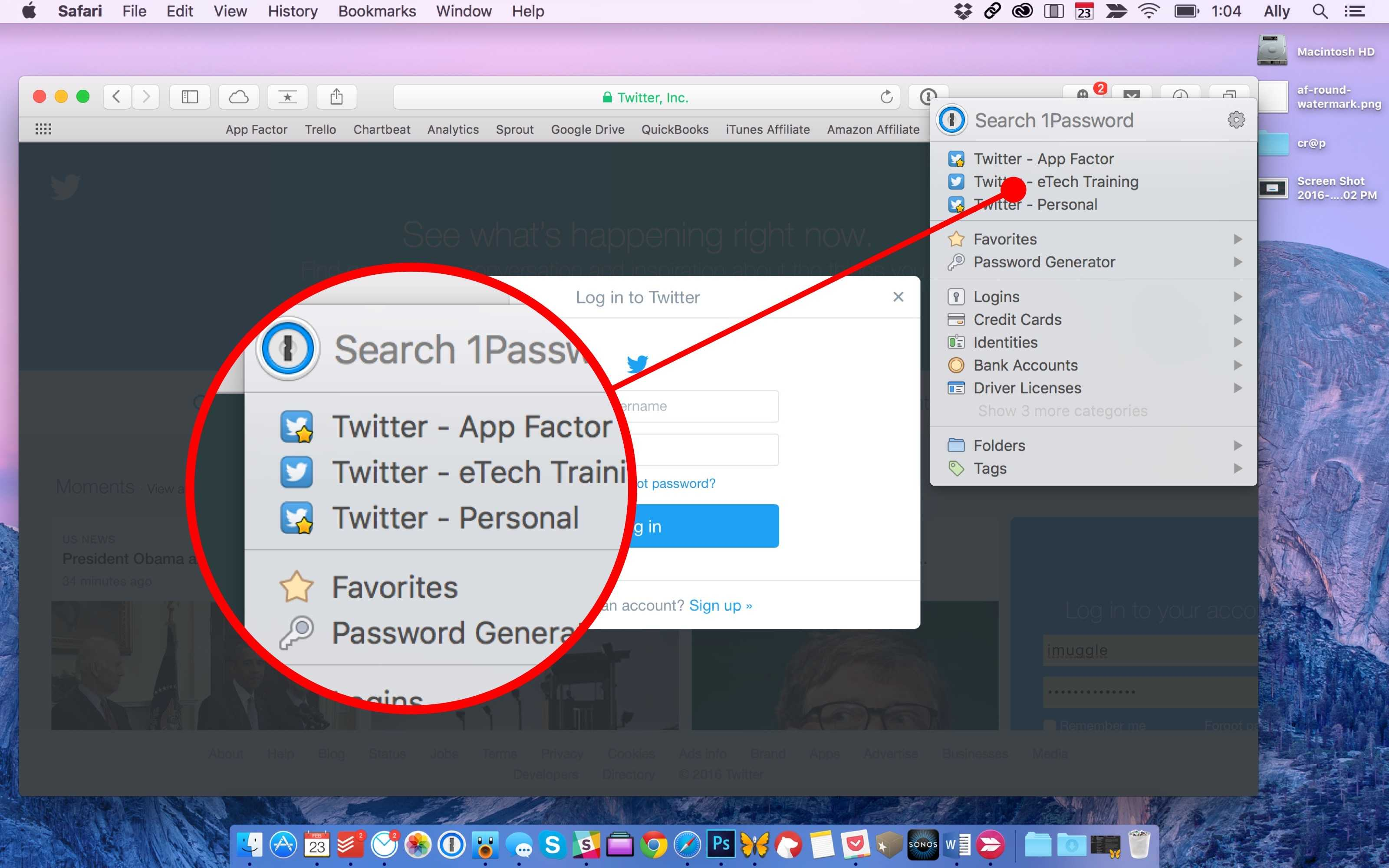 how to put a password on photos on mac