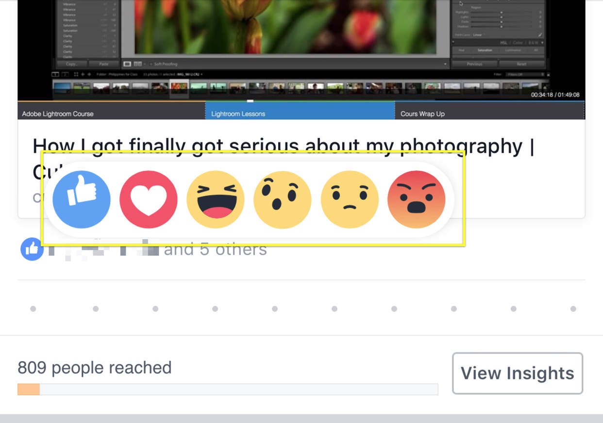 How to use new facebook reactions emojis the right way your iphone or ipad will give you this reaction biocorpaavc Gallery
