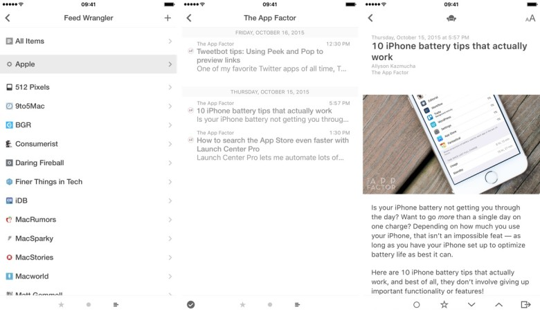 Reeder 2 gives you complete control over your feeds and works with several RSS services.