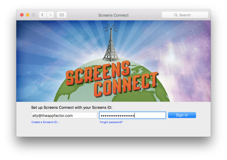 Screens Connect is necessary if you want to access your Mac remotely and not on the same network.