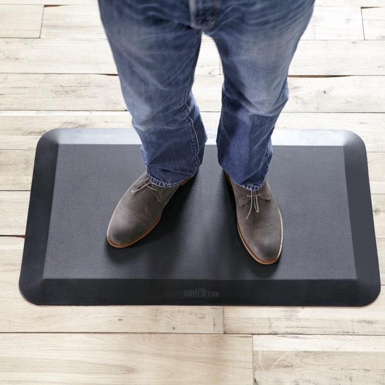The VARIDESK standing desk mat offers more support than many other options.