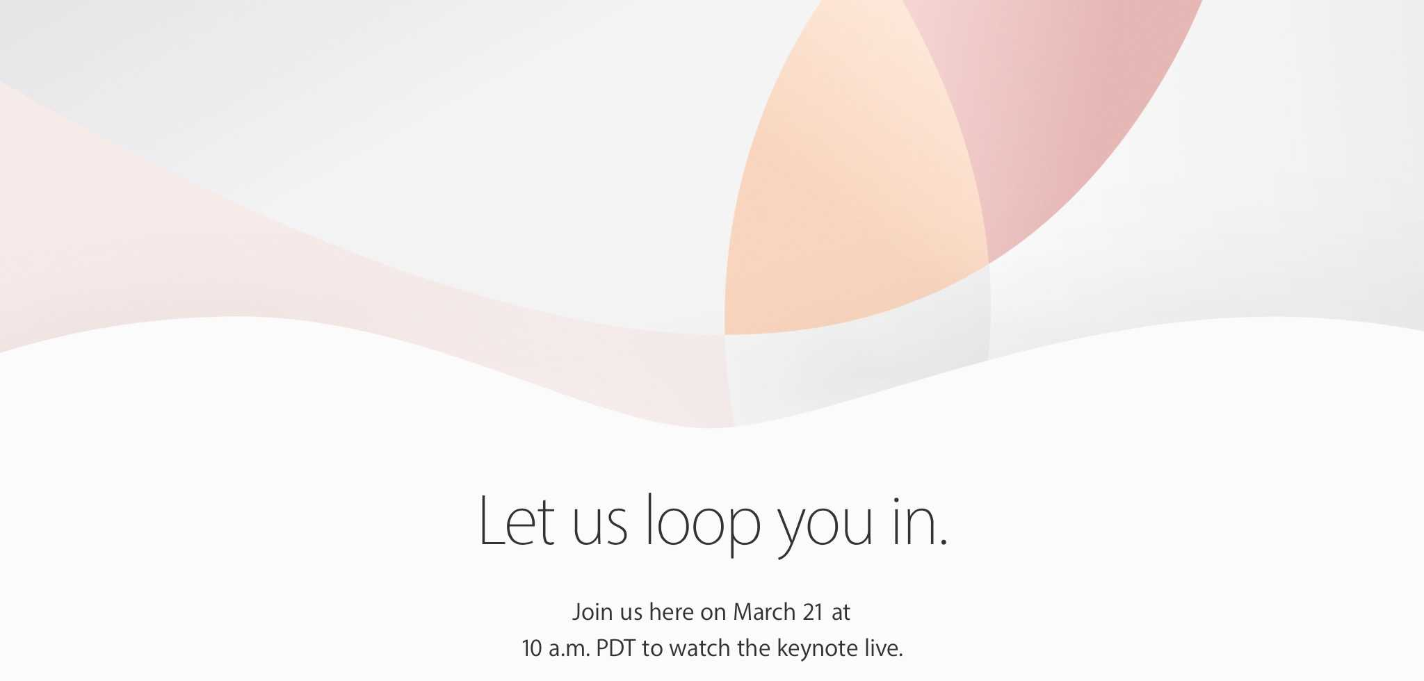 Apple March 21 event invite