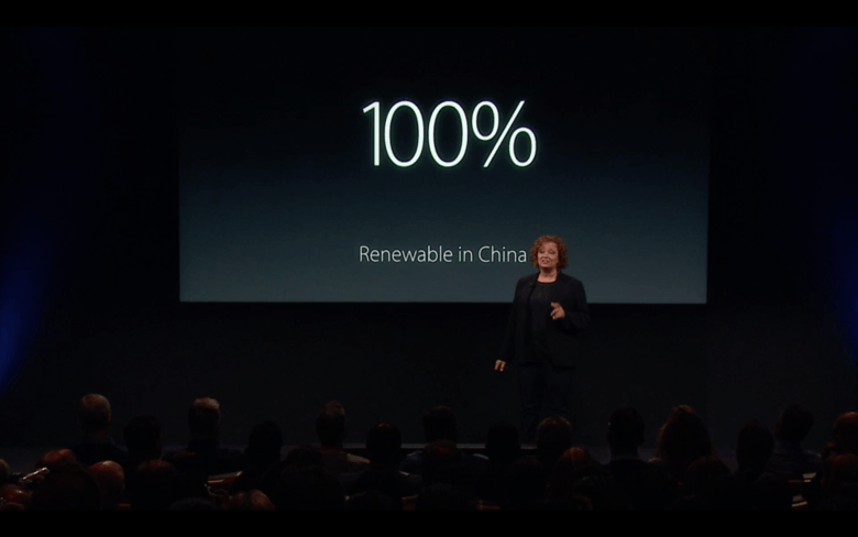 Renewable energy is the Apple way, says Lisa Jackson.