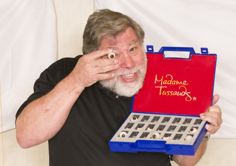 Steve Wozniak wax sculpture fake eyes