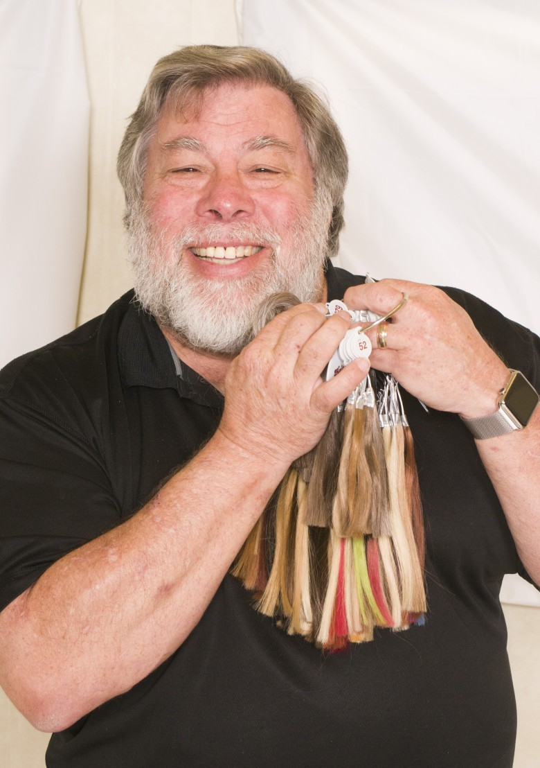 Steve Wozniak wax sculpture hair match