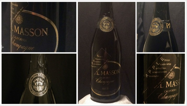 An unopened bottle of champaign from Apple's IPO in 1980.