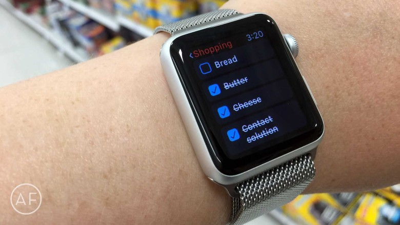 If you have an Apple Watch, Fantastical 2 makes managing grocery lists super simple!