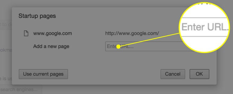 Set your home page in Chrome here.