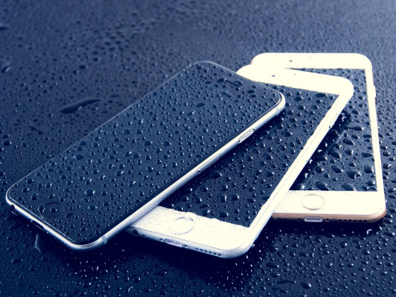 iPhone rain by Dariusz-Sankowski