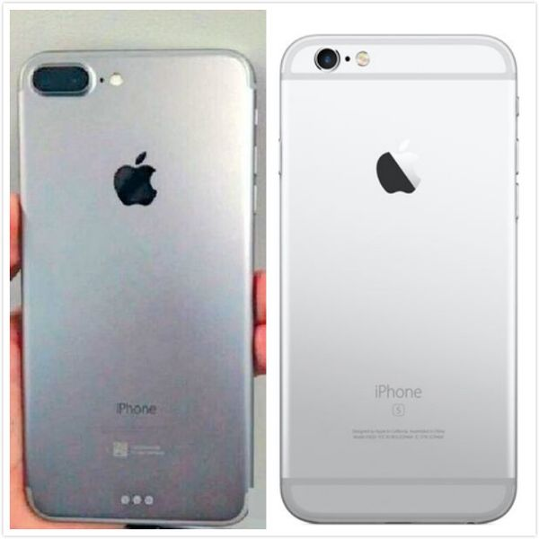 iPhone 7 with Smart Connector (left) and iPhone 6s.