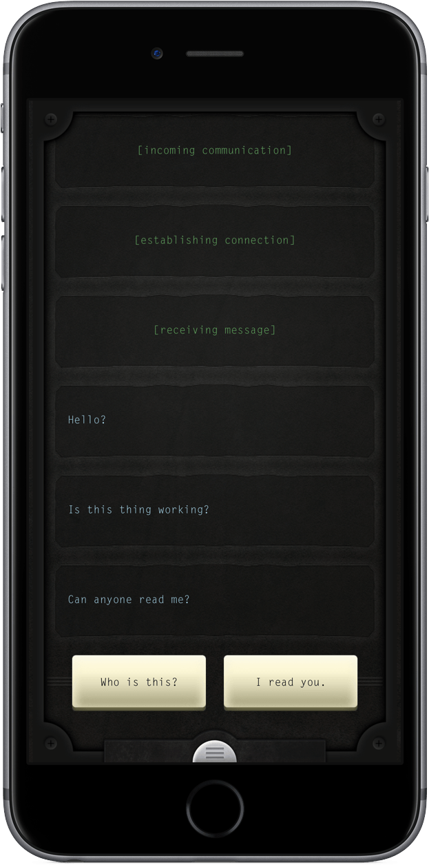 If you like text-based games, you'll love Lifeline.