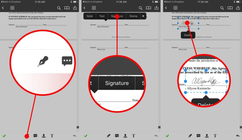 How to add a signature to ....