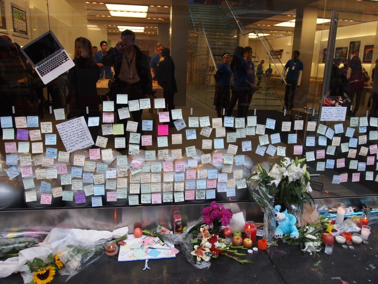 An Apple Store soon in the aftermath of Jobs' death.