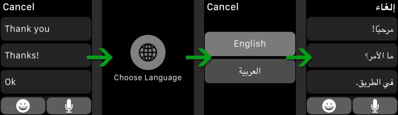 Apple Watch language force touch