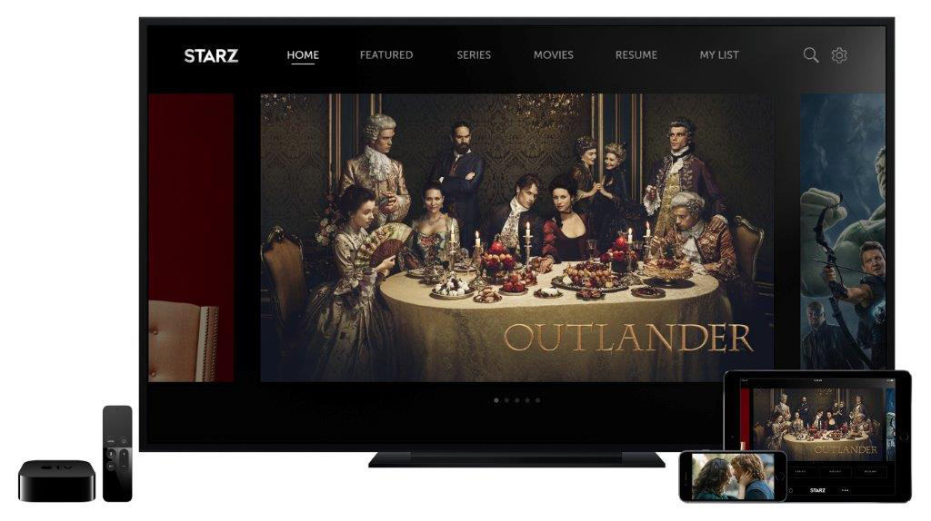 Outlander can now be streamed on Apple TV.