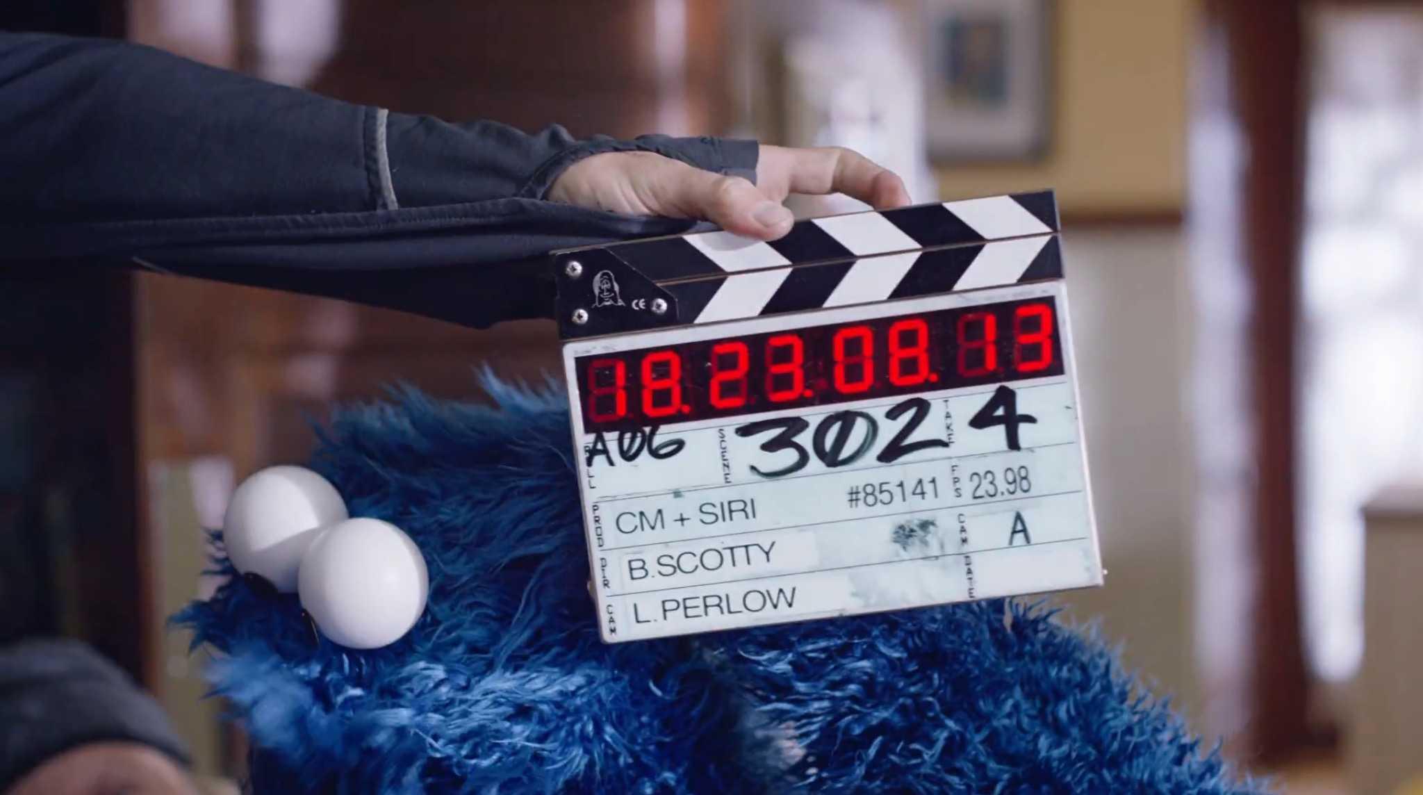 Cookie Monster Siri ad behind the scenes