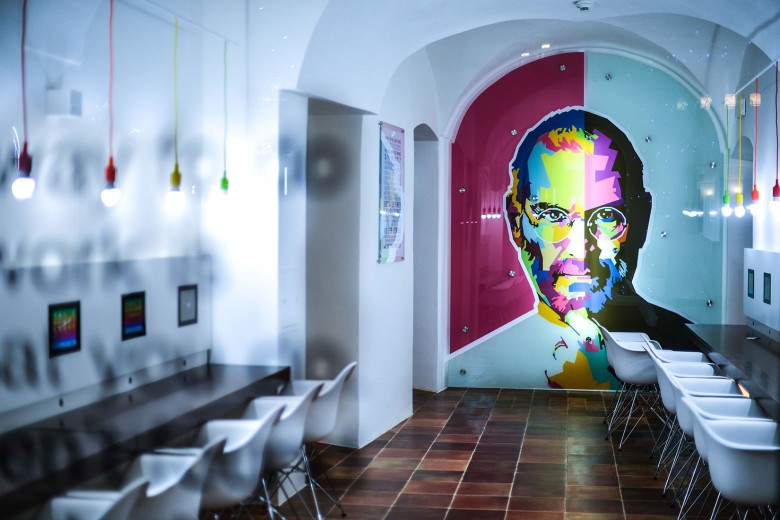 The Apple Museum in Prague pays homage to innovation and Apple founder Steve Jobs.