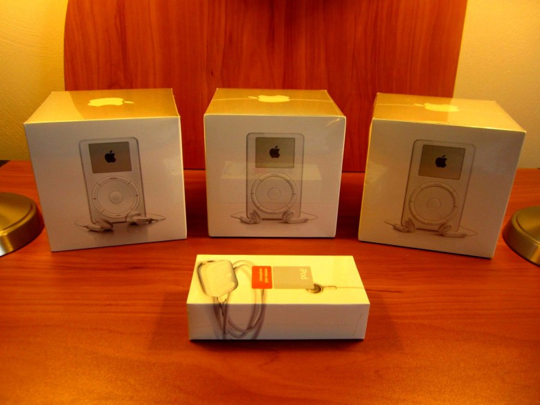 Would you pay $50,000 for these unboxed first-generation iPod collectibles?