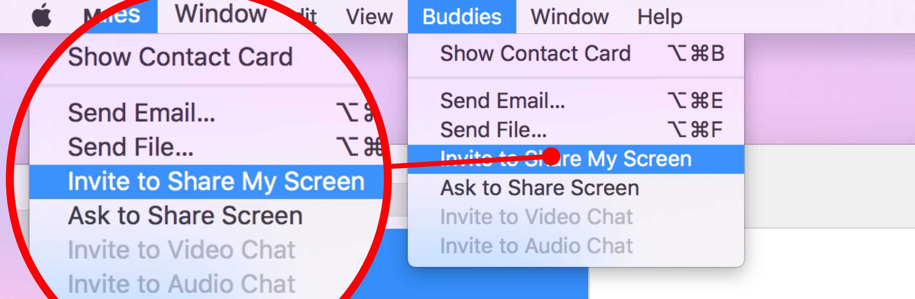 How to share Mac screen in Messages