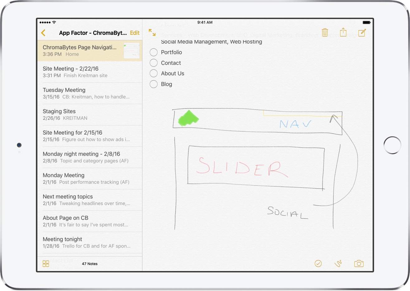 The Notes App Was Made For Apple Pencil And Has Great Responsiveness