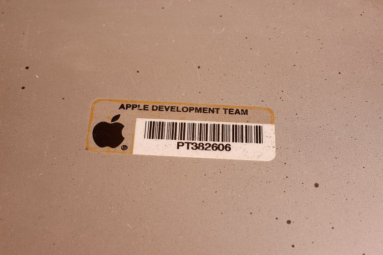 If you come across an Apple device with a sticker like this, you're on to something.