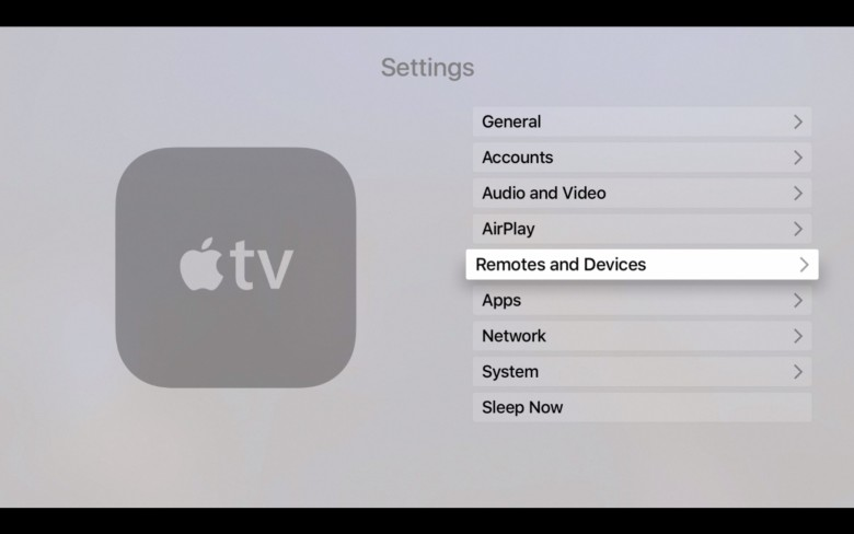 Go to Settings, Remotes and Devices.