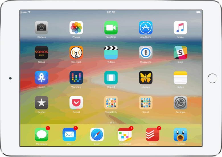 Command + H lets you quickly return to your iPad's Home screen without having to reach for the Home button.