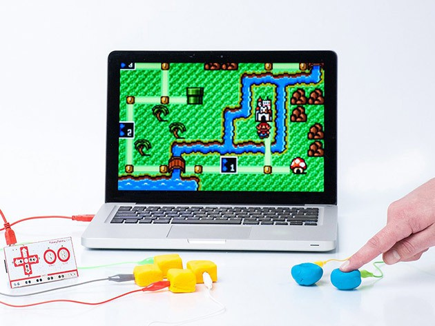 Makey Makey lets you turn anything into a computer controller, from peaches to Play-Doh.