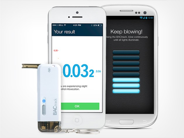 This miniature BAC reader fits in any pocket and connects to your phone via Bluetooth.