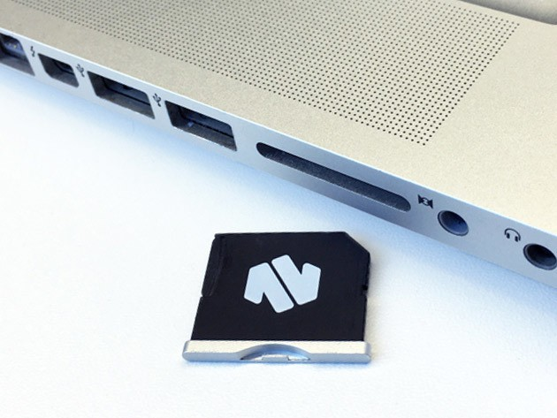 Nifty MiniDrive instantly adds 128 gigs of space to your Macbook, without adding a bulky external drive.