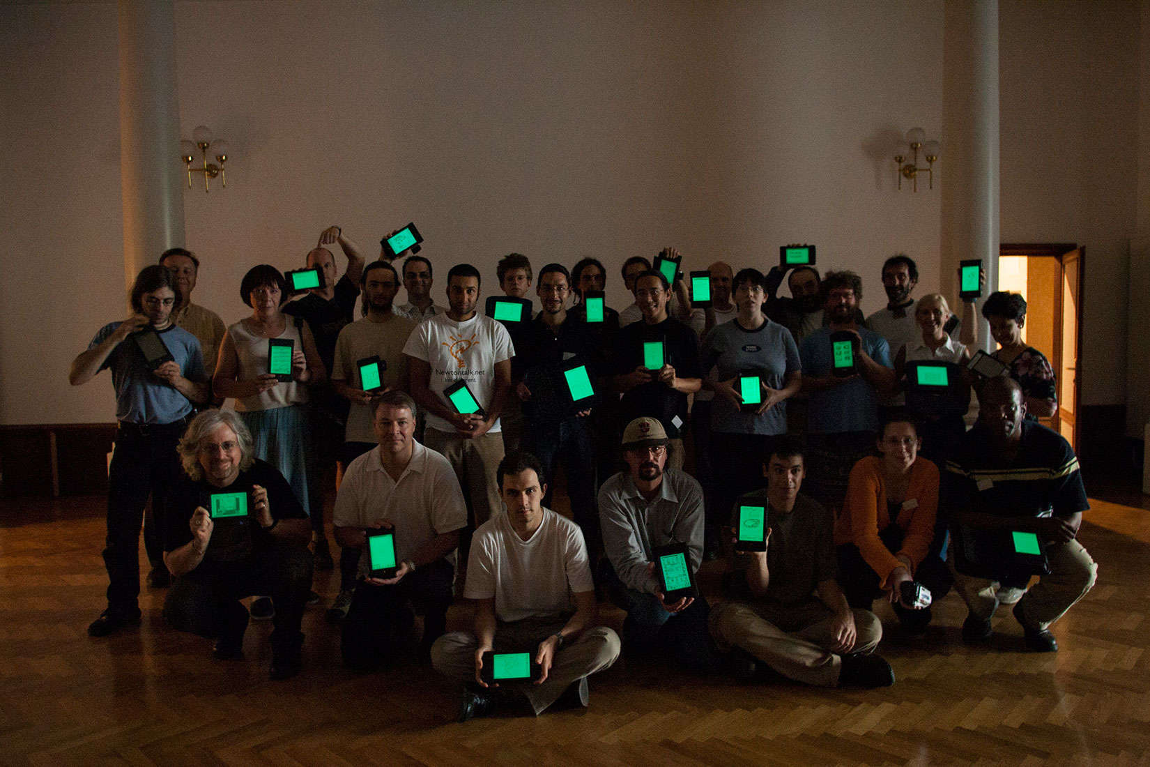 Keeping the light on. A group of enthusiasts who keep their Apple Newtons aglow.